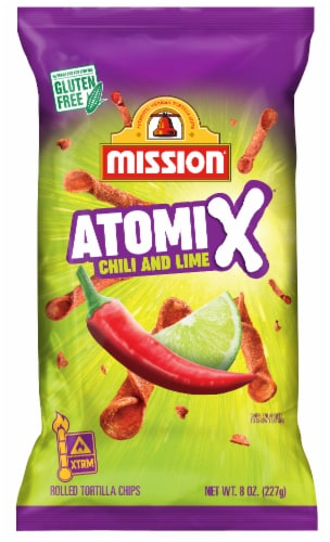 Mission Chile and Lime Tortilla Chips Perspective: front