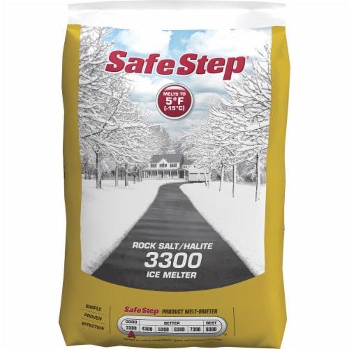 Safe Step® Rock Salt Halite 3300 Ice Melter Perspective: front