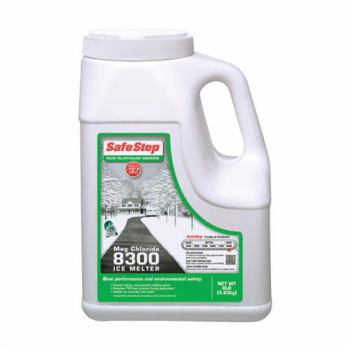 Compass Minerals America 53808 8 lbs Magnes Chlride Jug Ice Melter-  Pack of 4 Perspective: front