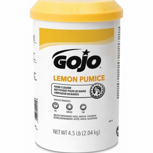 Gojo Lemon Scent Pumice Hand Cleaner 4.5 lb. - Case Of: 6; Perspective: front