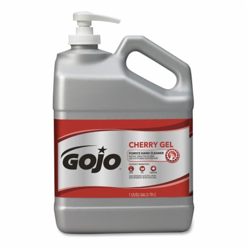 Gojo Cherry Gel Pumice Hand Cleaner  Cherry  1 gal Perspective: front