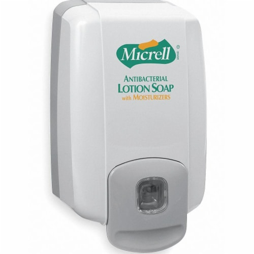 Gojo Soap/Lotion Dispenser,2000mL,Dove Gray Perspective: front