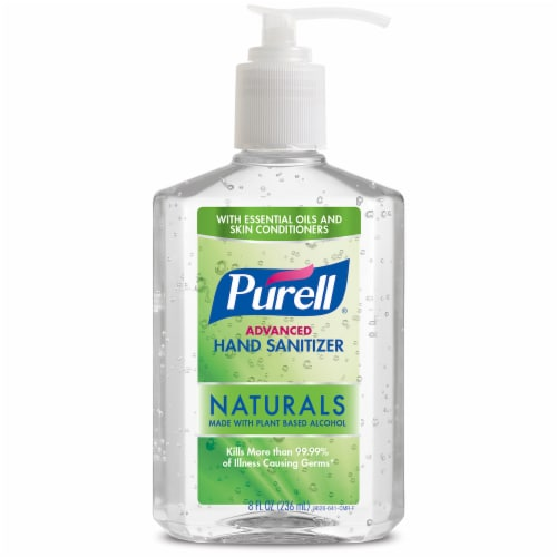 Purell Naturals Advanced Hand Sanitizer Perspective: front