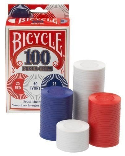 Bicycle 2g Poker Chips, 100-pack Perspective: front