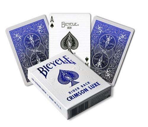 Bicycle Metalluxe - Cobalt Blue Perspective: front