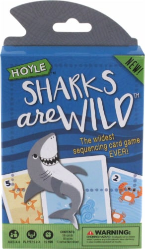 Hoyle® Sharks Are Wild Card Game Perspective: front