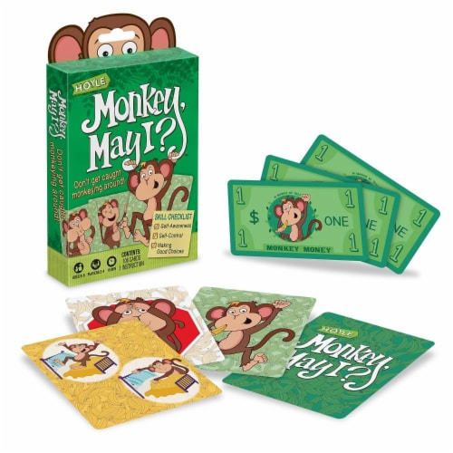 Hoyle® Monkey May I Card Game Perspective: front