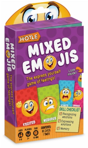 Hoyle® Mixed Emojis Card Deck Perspective: front