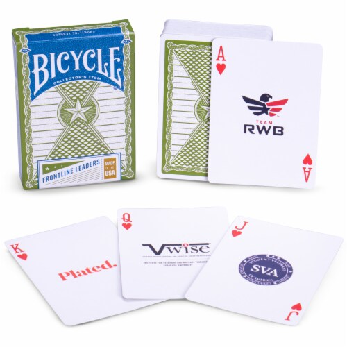 Bicycle Frontline Leaders Playing Cards Perspective: front