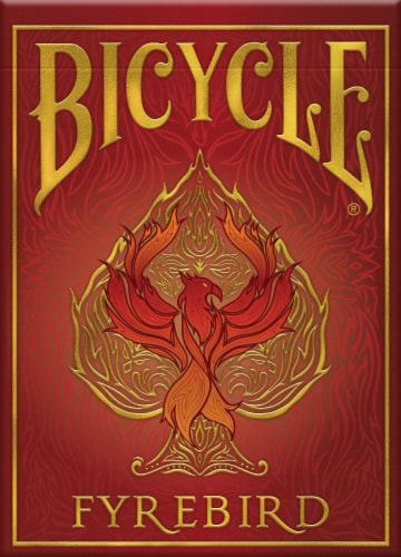Bicycle® Fyrebird Playing Cards Perspective: front