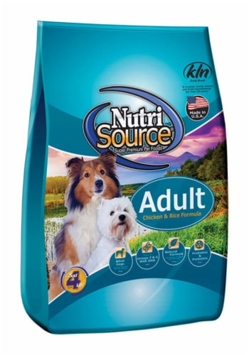 Nutri Source Chicken and Rice Cubes Dog Food 15 lb. - Case Of: 1; Perspective: front