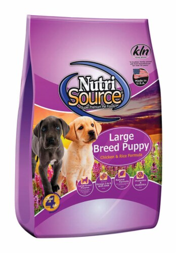 Nutri Source Chicken and Rice Cubes Dog Food 30 lb. - Case Of: 1; Perspective: front