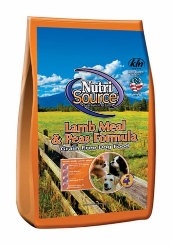 Nutri Source Lamb Meal & Peas Cubes Dog Food Grain Free 5 lb. - Case Of: 1; Perspective: front