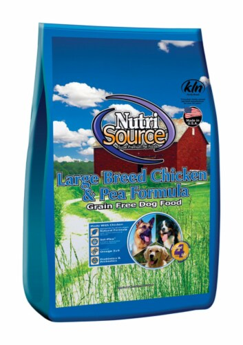 Nutri Source Chicken & Peas Cubes Dog Food Grain Free 30 lb. - Case Of: 1; Perspective: front