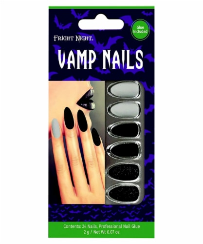 Fright Night Black Widow Nails Perspective: front