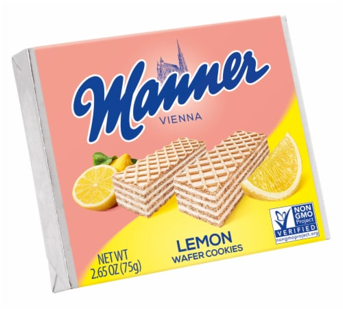 Manner Vienna Lemon Wafer Cookies Perspective: front