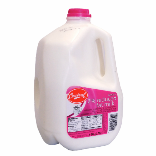 Central 2% Reduced Fat Milk Perspective: front