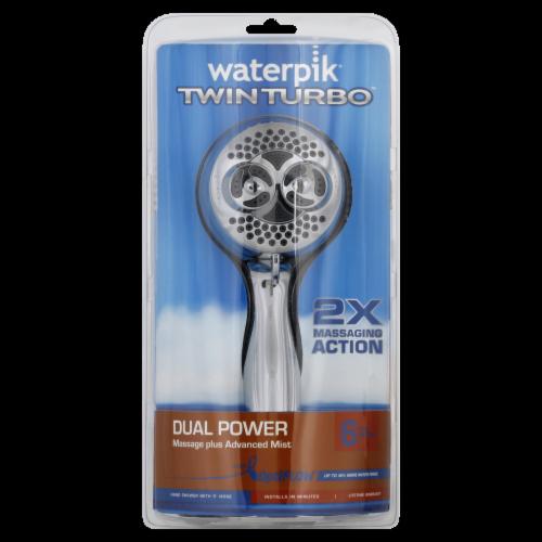 Waterpik® TwinTurbo Dual Power Showerhead Perspective: front
