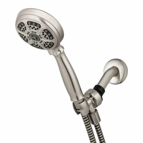 Waterpik® PowerSpray+™ Handheld Shower Head - Brushed Nickel Perspective: front