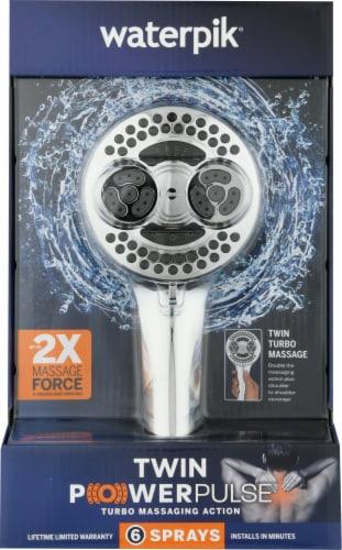 Waterpik® Twin PowerPulse Shower Head Perspective: front