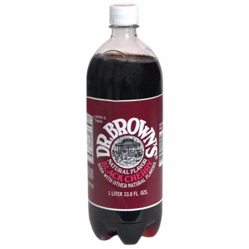 Dr. Brown's Black Cherry Soda Perspective: front