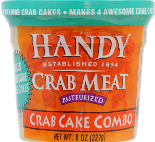 Handy Seafood Crab Cake Combo Crab Meat Perspective: front