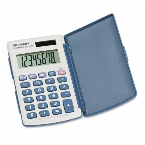 Sharp El-243sb Solar Pocket Calculator, 8-Digit Lcd EL243SB Perspective: front