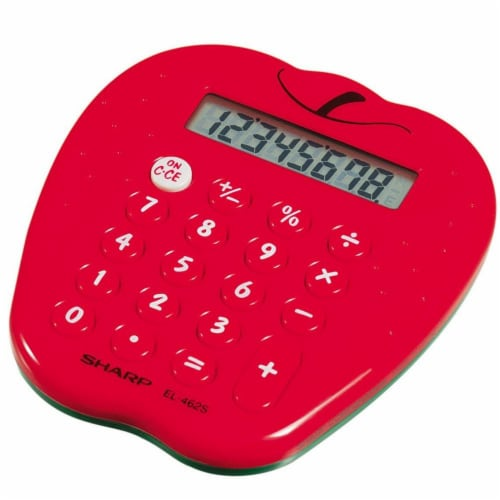 Sharp Dual Function Kitchen Timer And Calculator Perspective: front