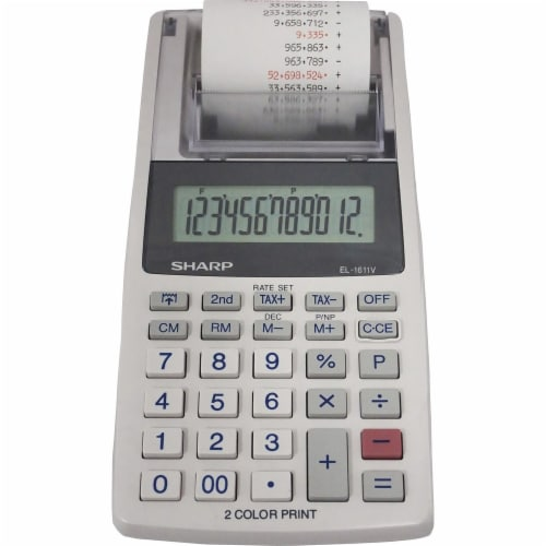 Sharp  Printing Calculator EL1611V Perspective: front