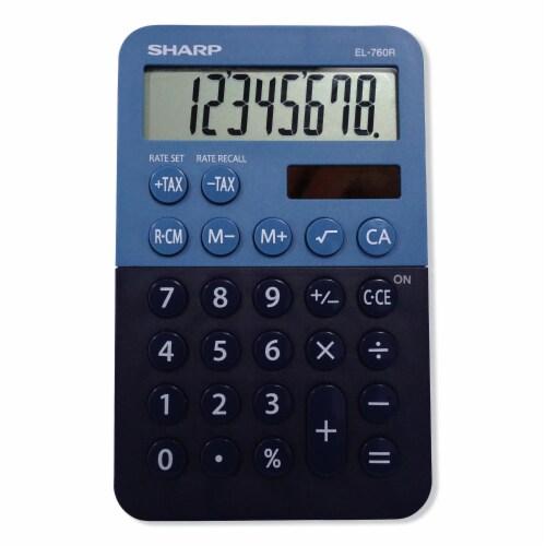 Sharp El-760rbbl Handheld Calculator, 8-Digit Lcd EL760RBBL Perspective: front