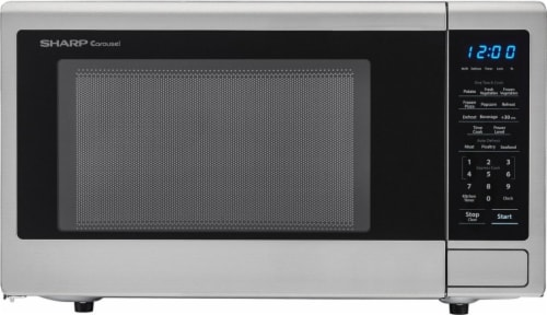 Sharp Carousel® Stainless Steel Countertop Microwave Oven - Silver Perspective: front
