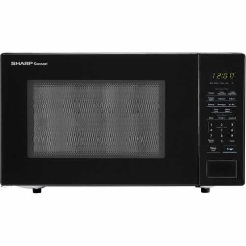 Sharp Carousel 1000 Watt Countertop Microwave Oven - Black Perspective: front