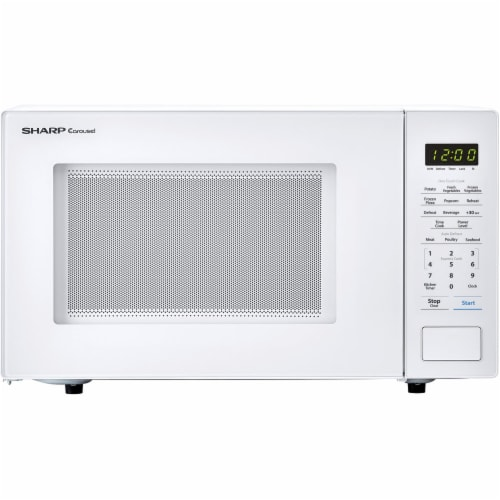 Sharp Carousel 1000 Watt Countertop Microwave Oven - White Perspective: front
