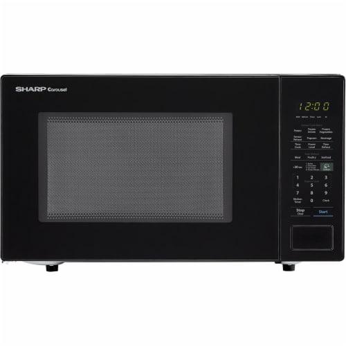Sharp Carousel 1000 Watt Countertop Microwave Oven - Black Perspective: front
