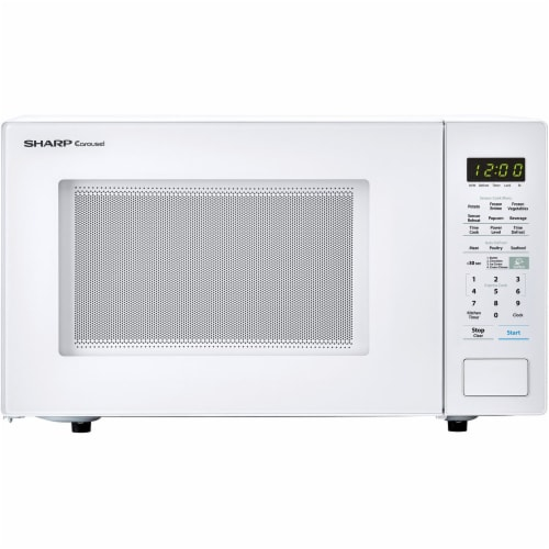 Sharp Countertop Microwave Oven - White Perspective: front