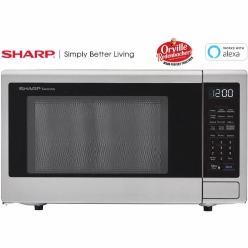Sharp ZSMC1139FS Smart Countertop Microwave Oven Perspective: front