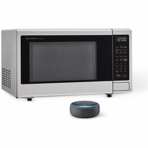 Sharp ZSMC1449FS 1.4 cu. ft. Stainless Steel Microwave Oven with Echo Dots, Charcoal Perspective: front