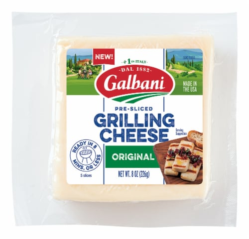 Galbani Pre-Sliced Original Grilling Cheese Perspective: front