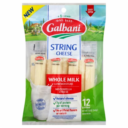 Galbani Mozzarella String Cheese 12 Count Perspective: front