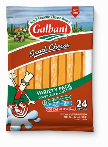 Galbani Cheddar & Colby Jack String Cheese Perspective: front