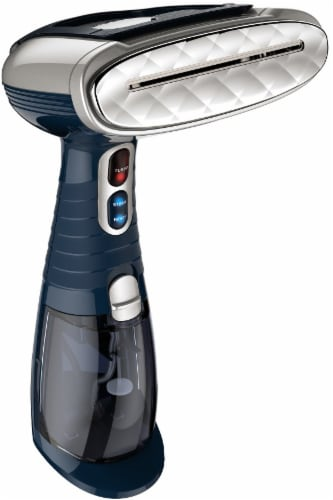 Conair Turbo ExtremeSteam Fabric Steamer - Navy/Silver Perspective: front