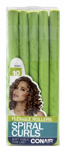 Conair Spiral Curls Flexible Rollers Perspective: front