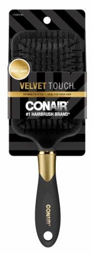 Conair Velvet Touch Detangle & Style Paddle Brush Perspective: front