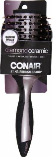Conair Diamond Ceramic Volume & Shine Hair Brush Perspective: front