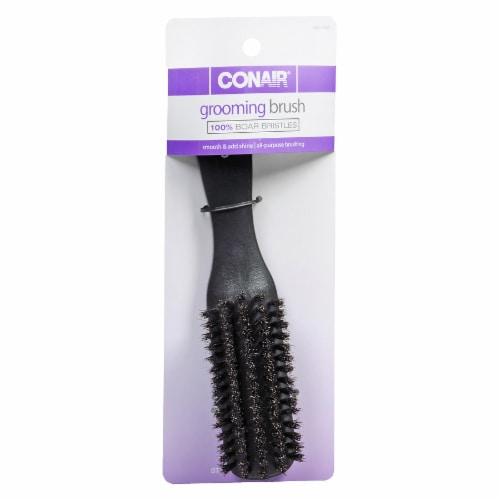 Conair Boar Bristle Slim Grooming Brush Perspective: front