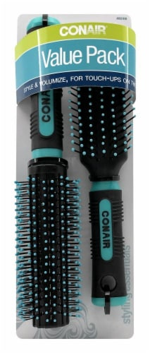 Conair All-Purpose Round Hair Brush Value Pack Perspective: front