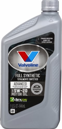 Valvoline Full Synthetic Advanced 5W-20 Motor Oil Perspective: front