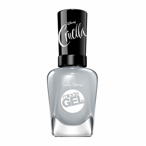 Sally Hansen Miracle Gel Greyfitti Nail Color Perspective: front