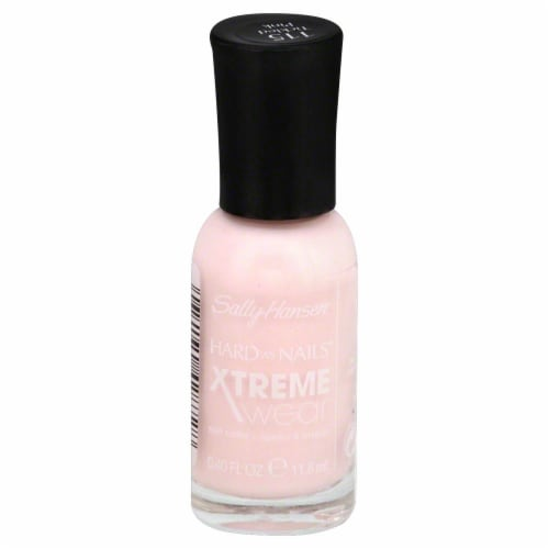 Sally Hansen Hard as Nails Xtreme Wear 115 Tickled Pink Nail Color Perspective: front