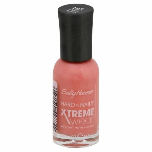 Sally Hansen Hard as Nails Xtreme Wear 185 Giant Peach Nail Color Perspective: front